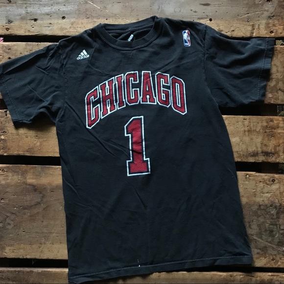 Adidas top nero chicago bulls rose tee poshmark